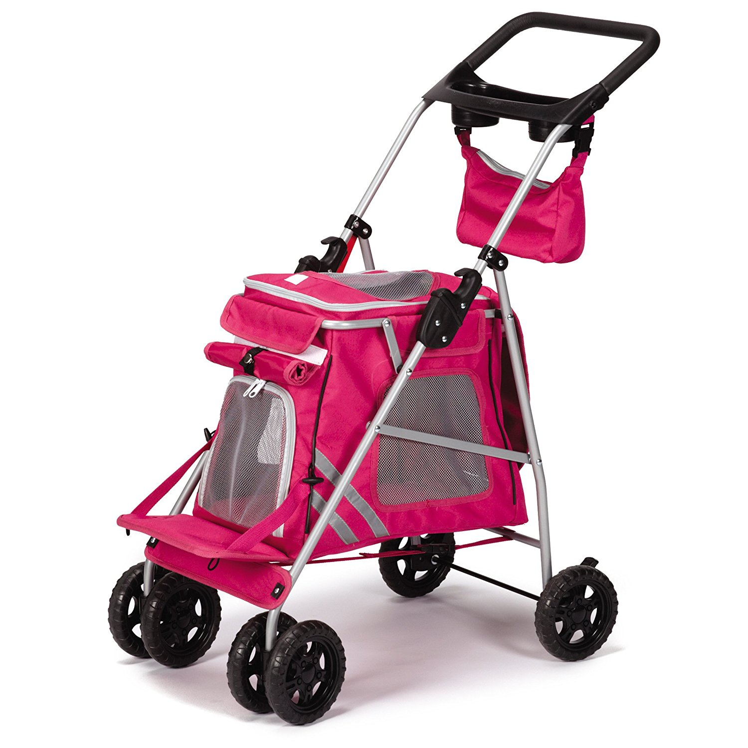 Guardian Gear Classic II Stroller for Ferrets, Small Dogs and Cats –  Magenta
