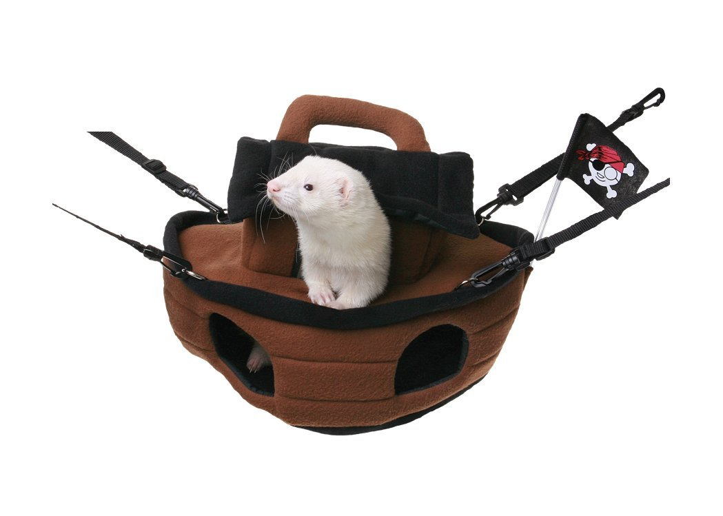 Marshall Pirate Ship Cage Accessory for Small Animals
